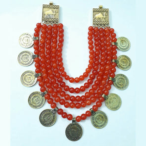 Orange Glass Beads Maharaja