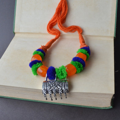 Pom Pom Multicolor Necklace