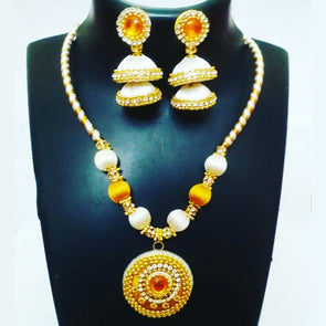 Silk Thread Necklace Set 16