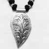 German Silver Leaf Necklace