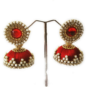 Silk Thread Jhumkas 9