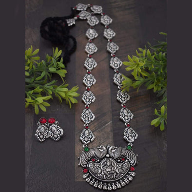 Ganesha German Silver Necklace Set 60