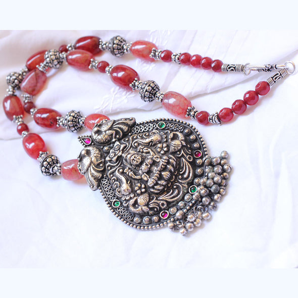 Oxidized Temple Necklace 2