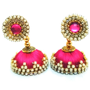 Silk Thread Jhumkas 7