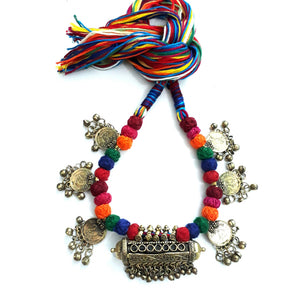 Multi Colour Coin Necklace