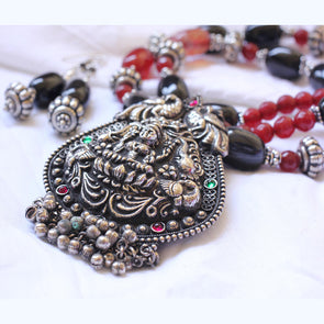 Oxidized Temple Necklace 3