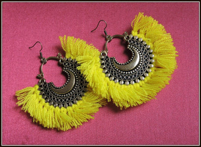 Tassel Earrings - Lemon Yellow