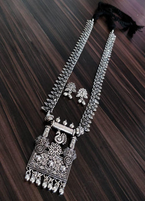 German silver long necklace 3