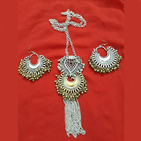 Dual Tone Chand Bali Necklace 2