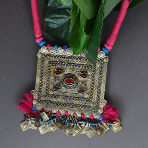 Jumbo Vintage Afghan Necklace