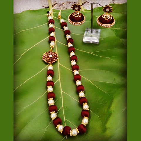 Silk Thread Paachi Necklace Set