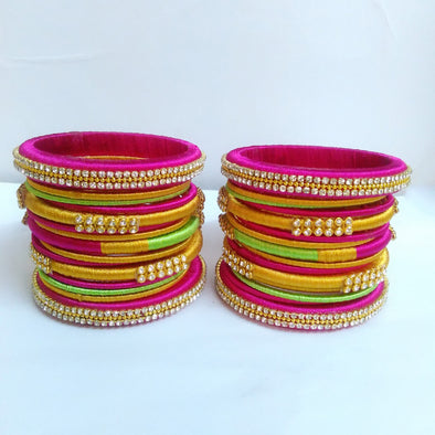 Silk Thread Bridal Bangles