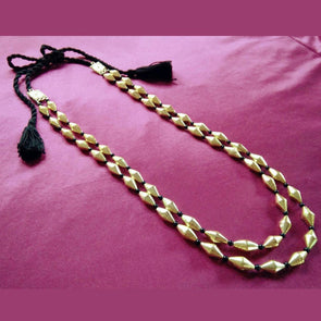 2 Line Golden Dholki Statement Neckpiece