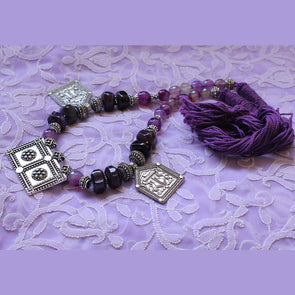 Purple Tribal Thread Necklace