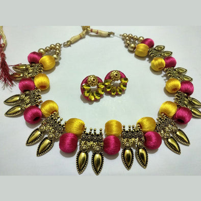 Antique Silk Thread Necklace Set