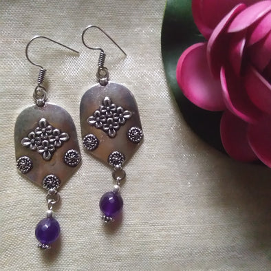 Purple Agate Earrings