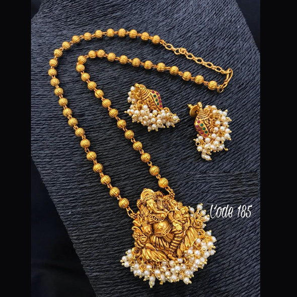 Ganesh Gold Finish Chain Set