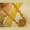 Gold Finish Lakshmi Temple Haram Set