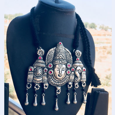 Venkat Temple Pendant Necklace