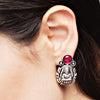 Gajalakshmi Temple Long Haram with Earring