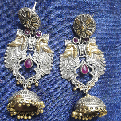 Antique Dual Tone Jhumki 2