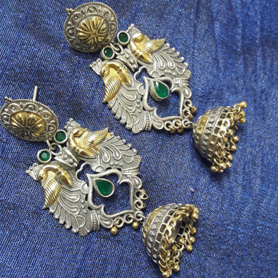 Antique Dual Tone Jhumki 1