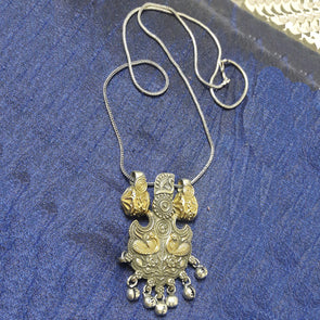 Antique Dual Tone Pendant