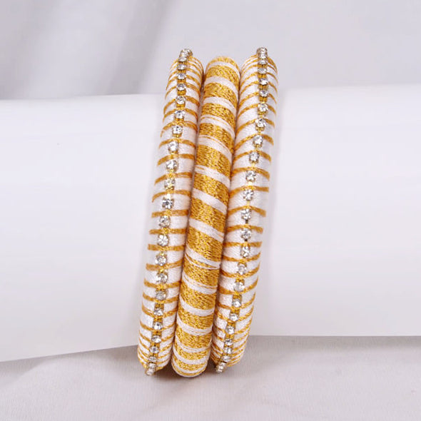 White & Golden Bangles
