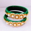 Silk Thread Bangles - Green