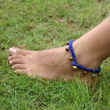 Dokra Anklet Blue Copper