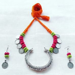 Bangles Pendant Statement Necklace 1
