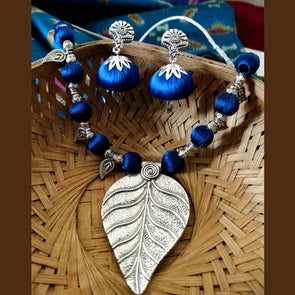 Blue Leaf Charm Set
