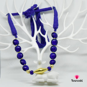 Royal Blue Choker Neck Piece