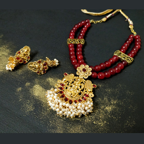 Lakshmi Red Beads Set