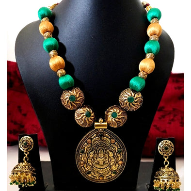 Green and Gold Silk Thread Set