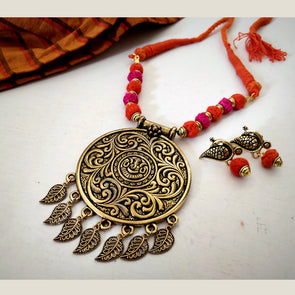 Red & Orange Ganesh Pendant