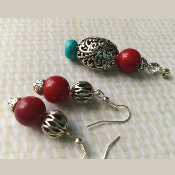 Cherry Red Pendant Set