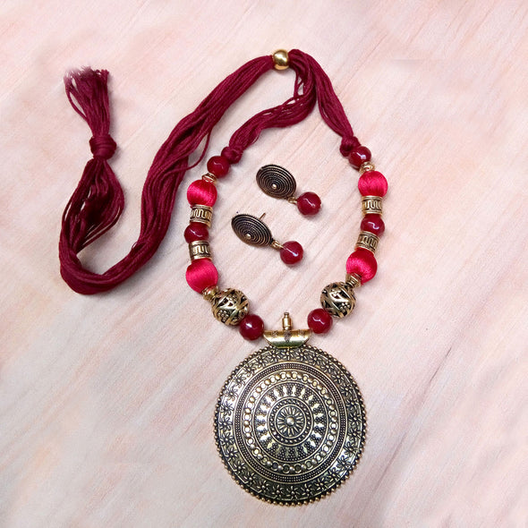 Maroon Antique Neckset