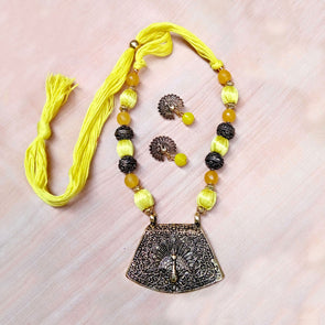 Bright Yellow Antique Neckset
