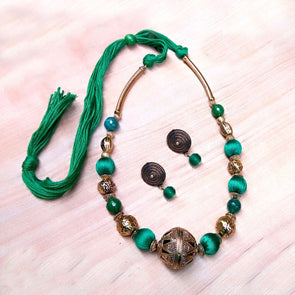 Green Ethnic Antique Neckset 1