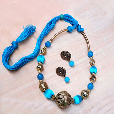 Light Blue Antique Neckset