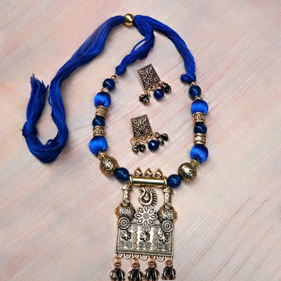 Dark Blue Antique Neckset