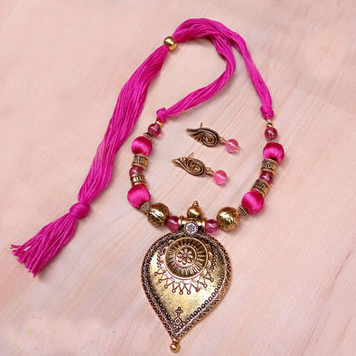 Pink Antique Neckset