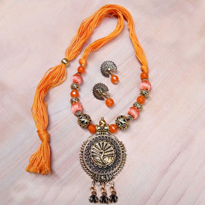 Orange Antique Neckset