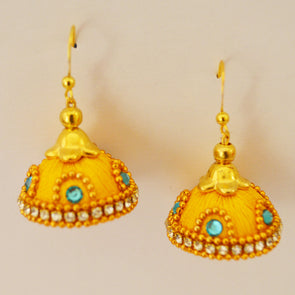 Yellow Jhumka