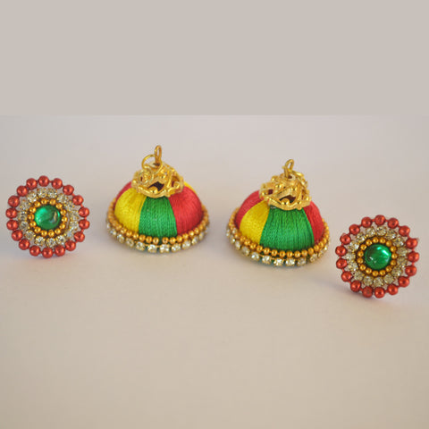 Multi Colour Jhumka 2