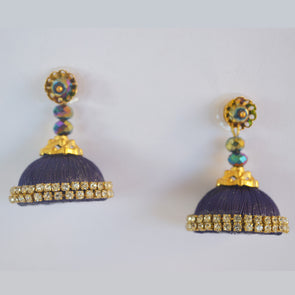 Dark Blue Jhumka