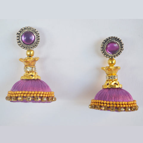 Purple Jhumka