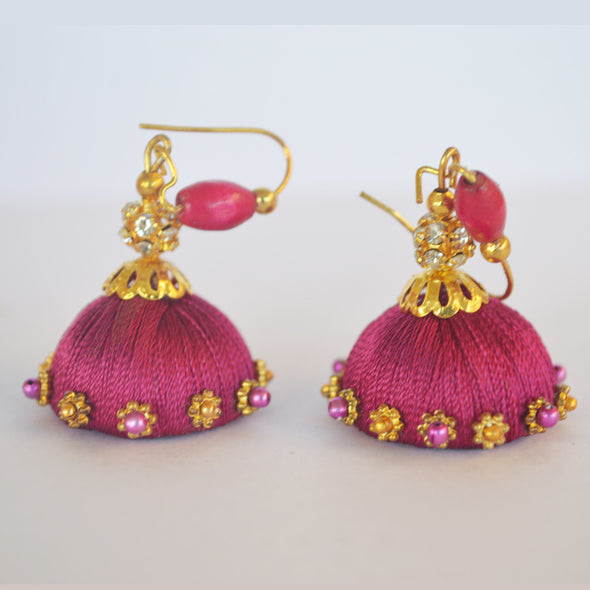 Purple Jhumka 1