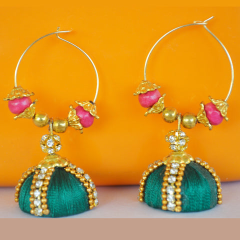 Green Loop jhumka